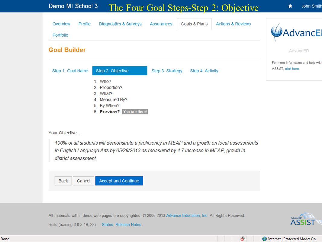 26 The Four Goal Steps-Step 2: Objective