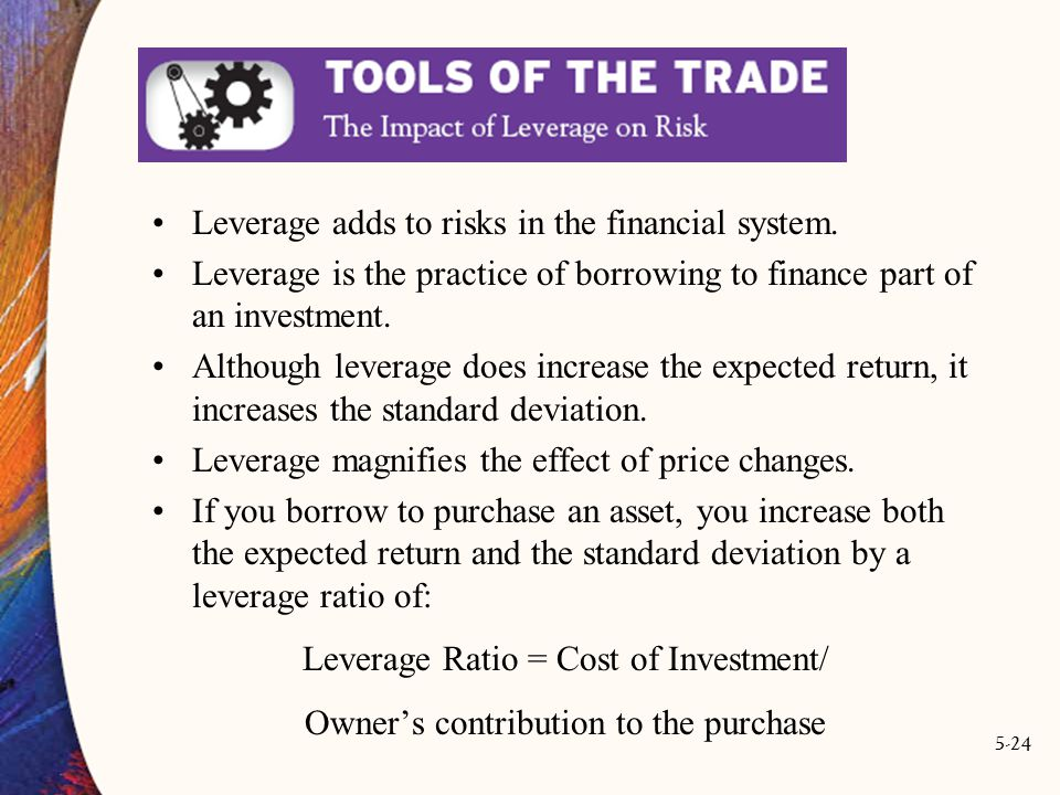 5-24 Leverage adds to risks in the financial system.