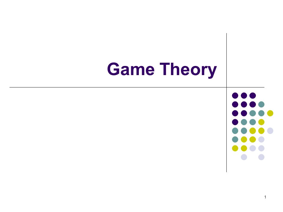 Game Theory 1