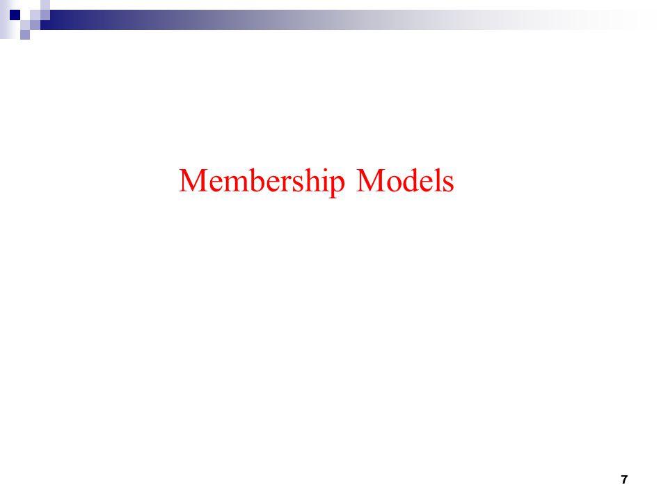 7 Membership Models