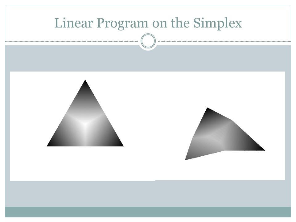 Linear Program on the Simplex