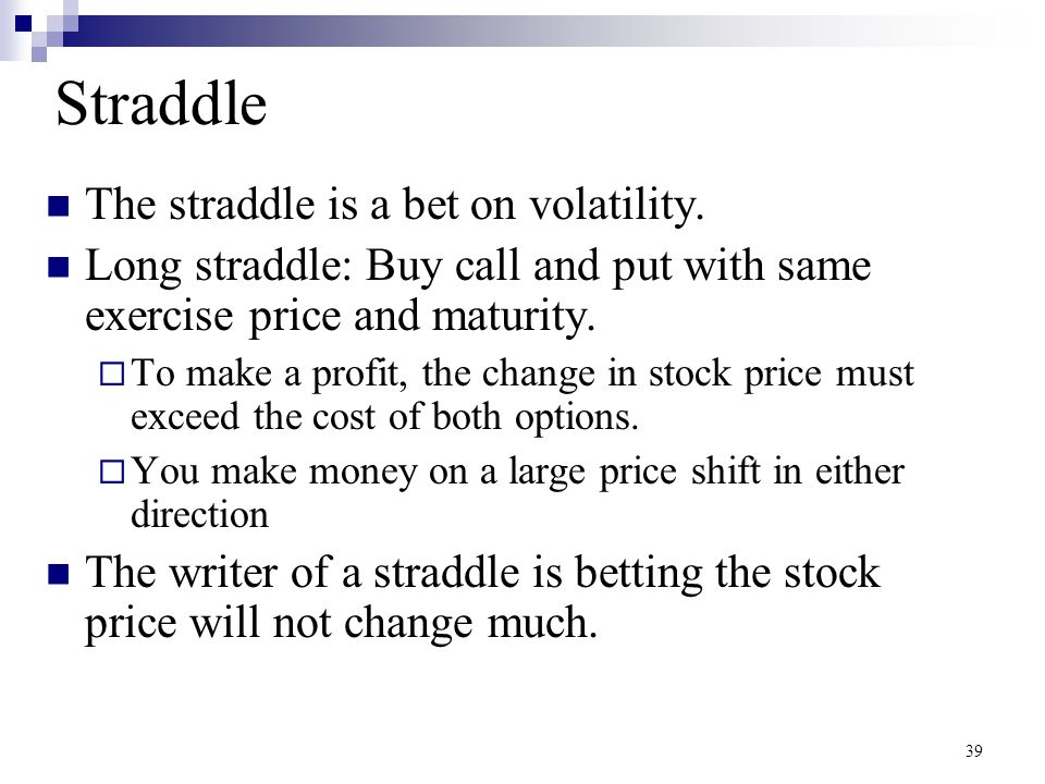 Straddle Position at Expiration 40