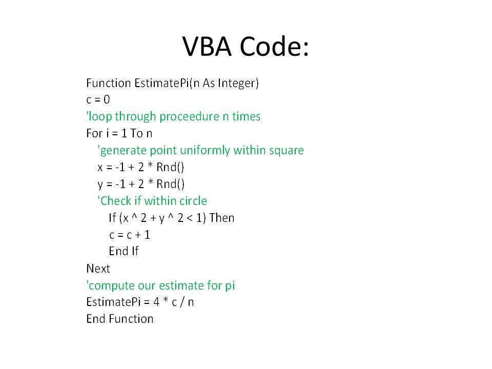 VBA Code: