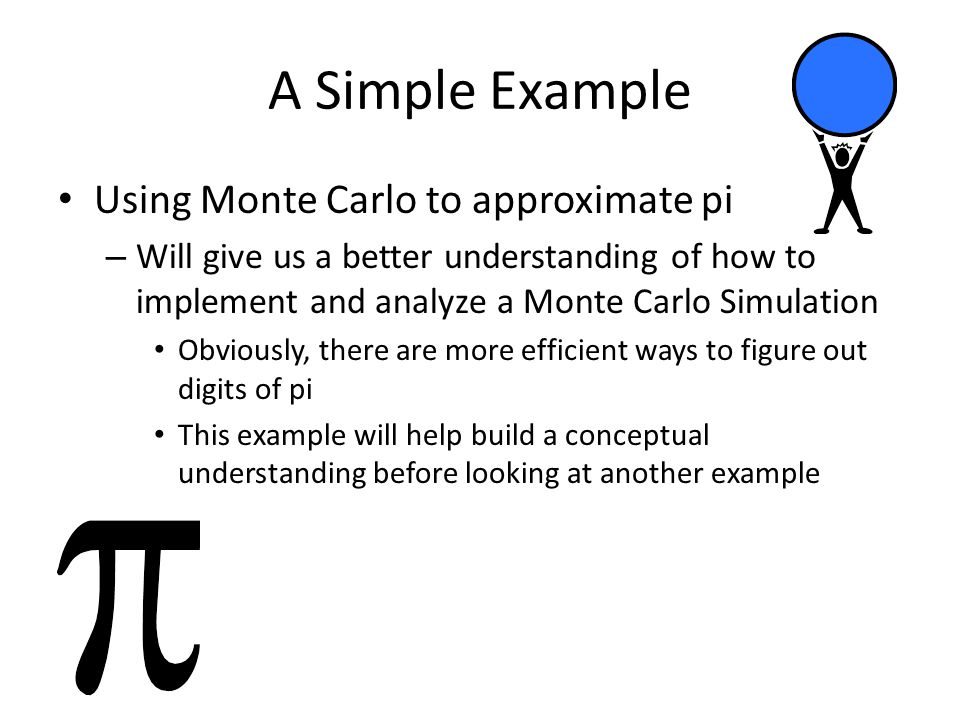 Clearly, Monte Carlo is not best method for figuring out digits of pi – So what is a practical application???