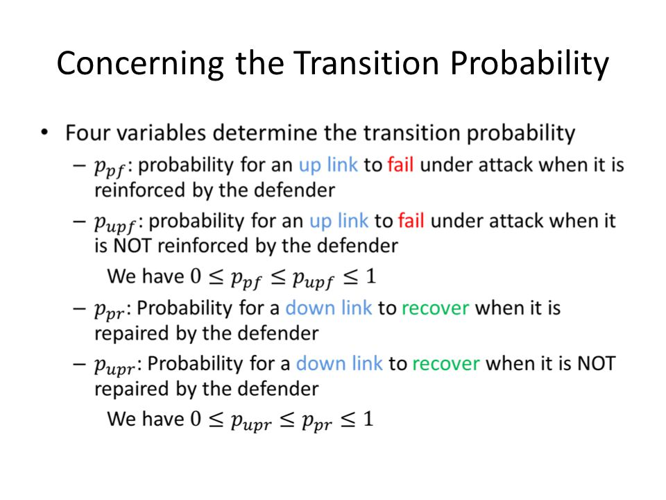Concerning the Transition Probability