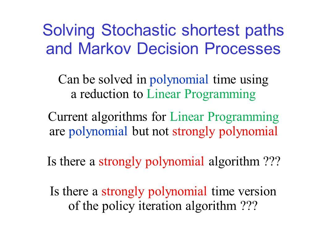 Primal LP formulation for stochastic shortest paths [d'Epenoux (1964)]