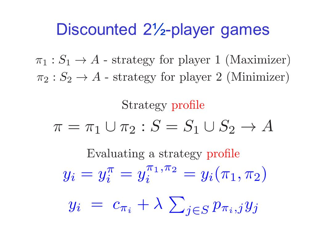 Both players have optimal positional strategies Can optimal strategies be found in polynomial time.