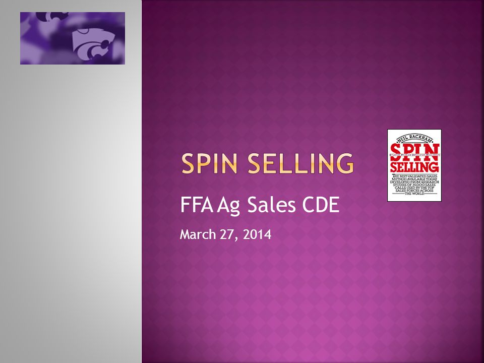 FFA Ag Sales CDE March 27, 2014