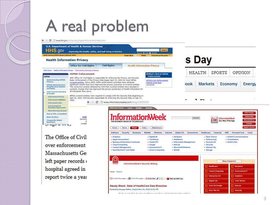 A real problem 3