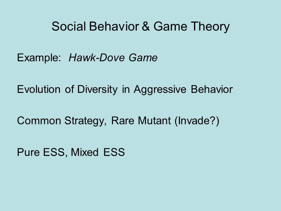 social behavior