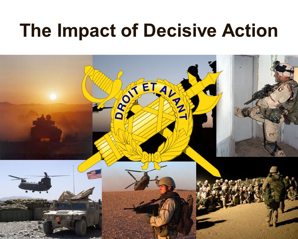 The Impact of Decisive Action