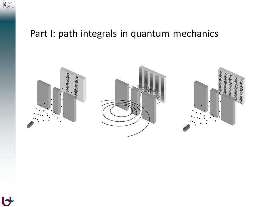Part I: path integrals in quantum mechanics
