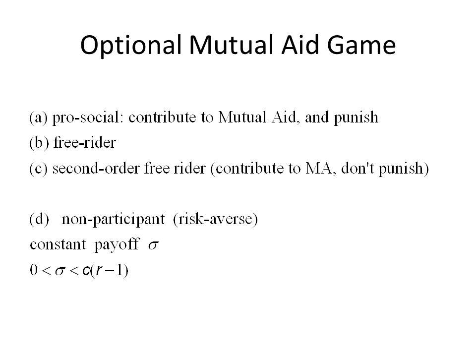 Optional Mutual Aid Game