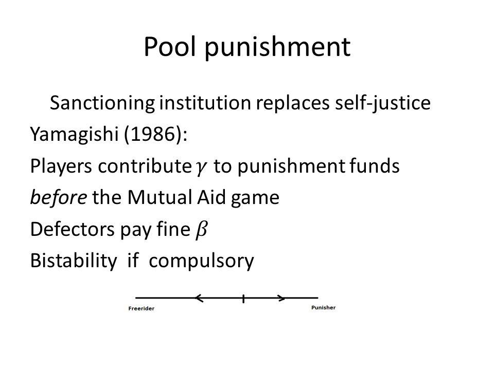 Pool punishment