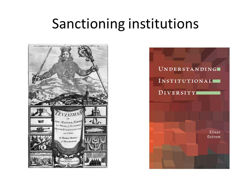 Sanctioning institutions
