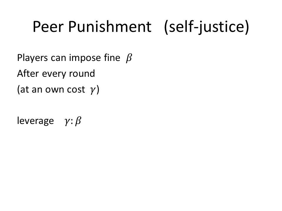 Peer Punishment (self-justice)