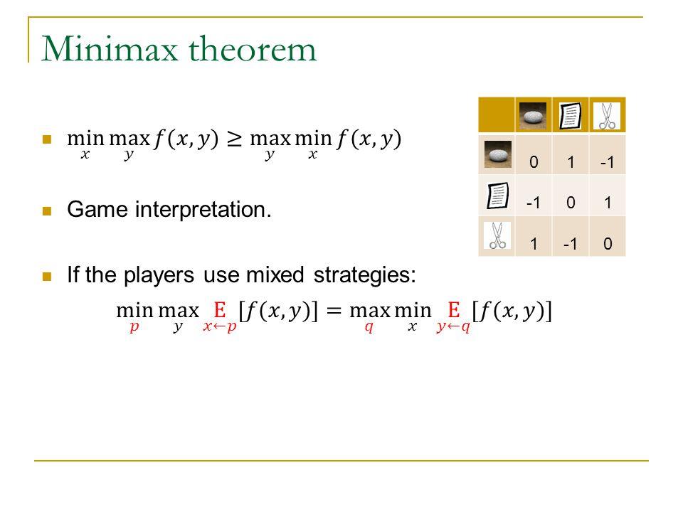 Minimax theorem 01 01 1 0