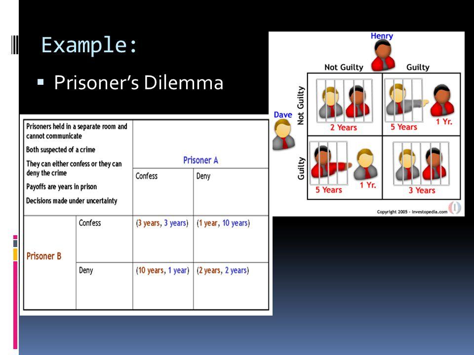 Example:  Prisoner's Dilemma