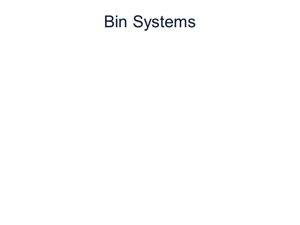 6 | 38 Copyright © Cengage Learning. All rights reserved. Bin Systems