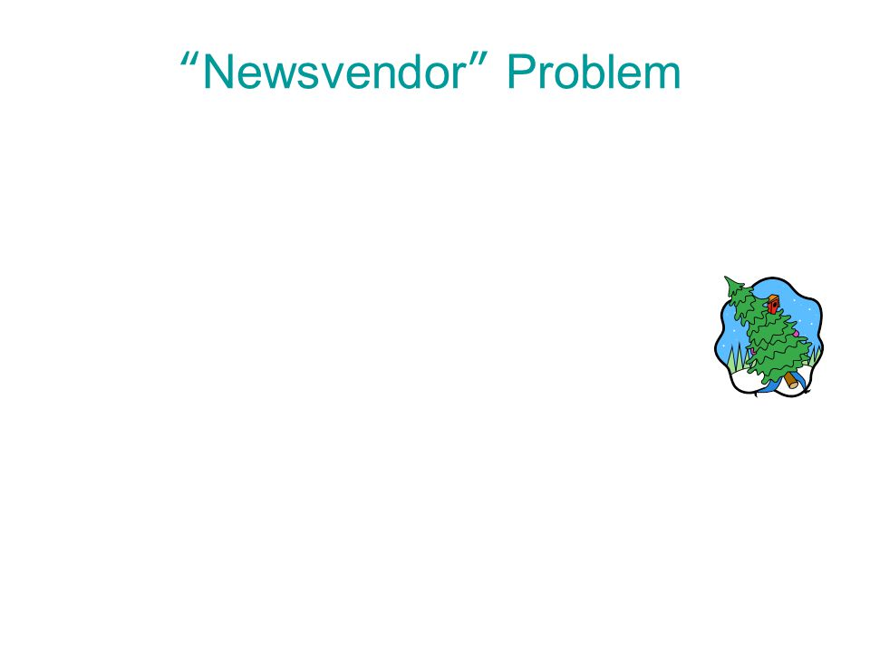 6 | 40 Copyright © Cengage Learning. All rights reserved. Newsvendor Problem