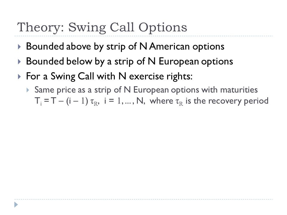 Algorithm: Swing Option – The Ugly