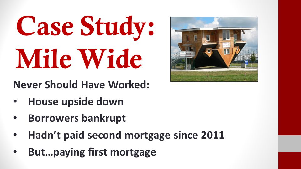 The Ostrich Numbers Value: $160,000 1 st Mortgage: $204,000 (sweet modification) 1 st Mortgage pmt.