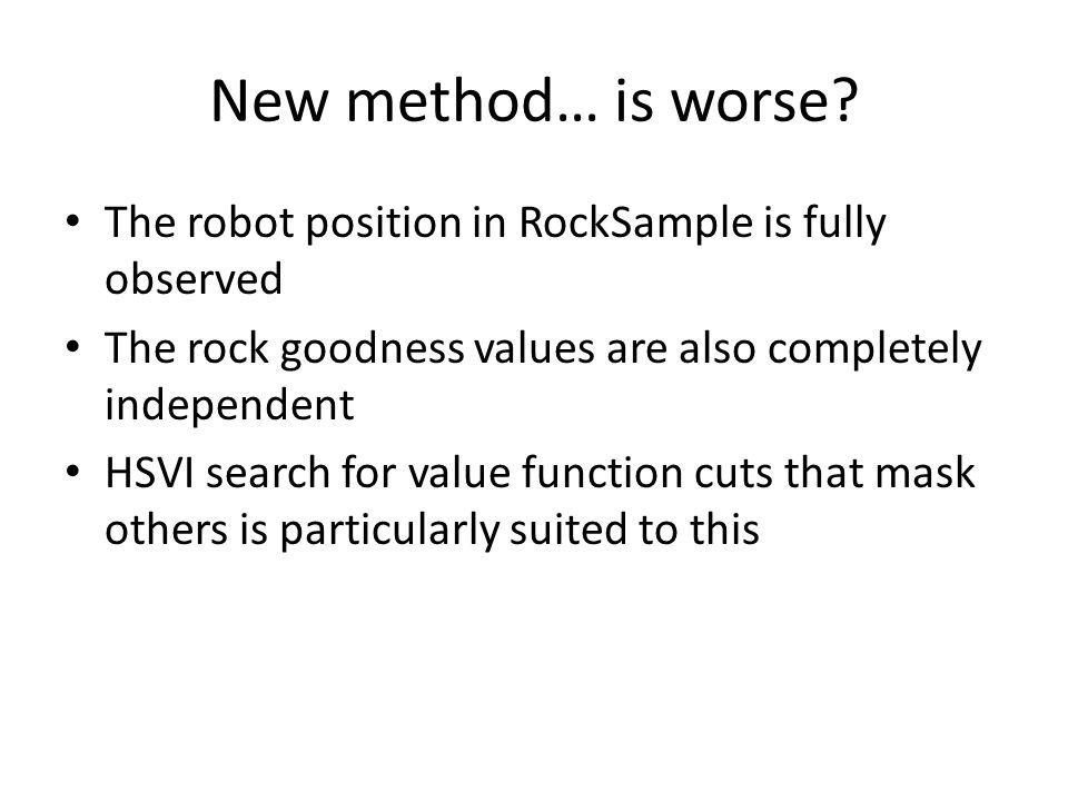 New method… is worse.