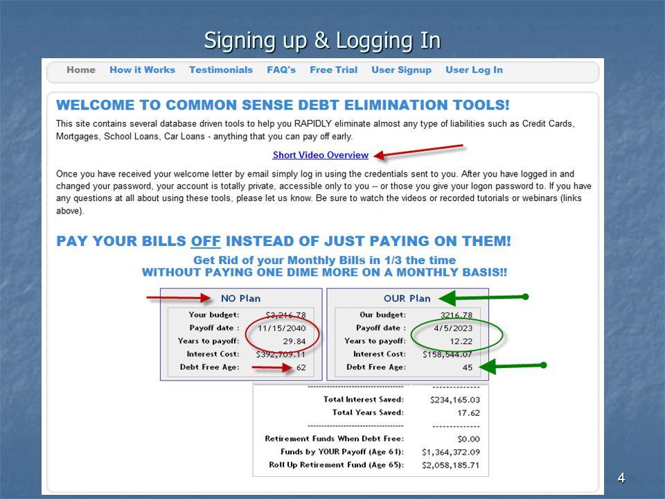 4 Signing up & Logging In