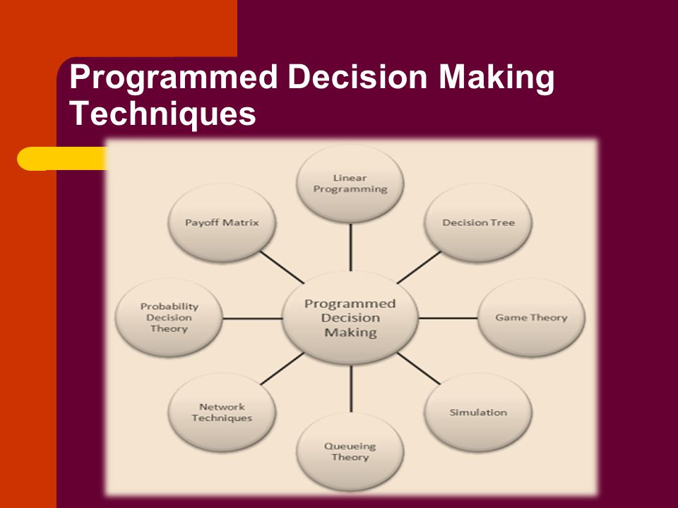 Programmed Decision Making Techniques