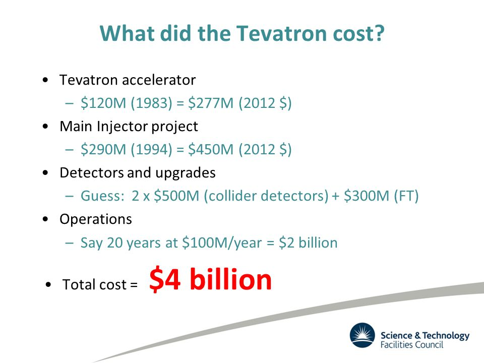 What did the Tevatron cost.