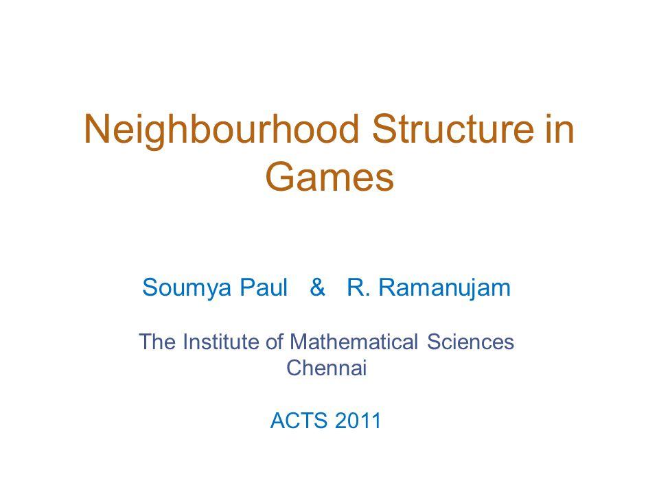11 1 0 0 2/5 3/5 x1x1 y2y2 y1y1 x2x2 Neighbourhood Sturcture in Games