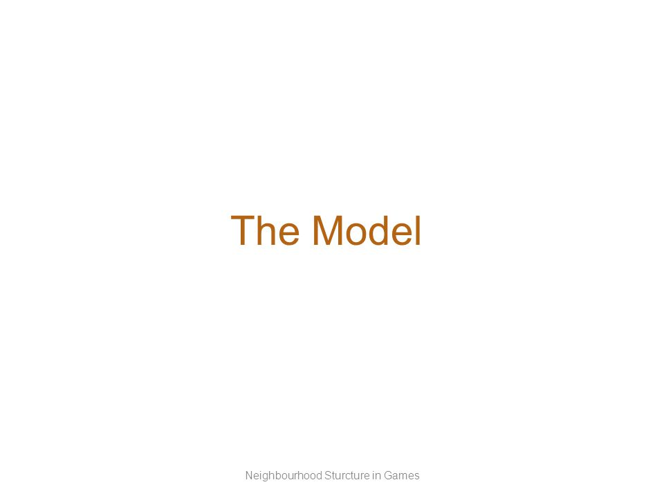 The Model Neighbourhood Sturcture in Games