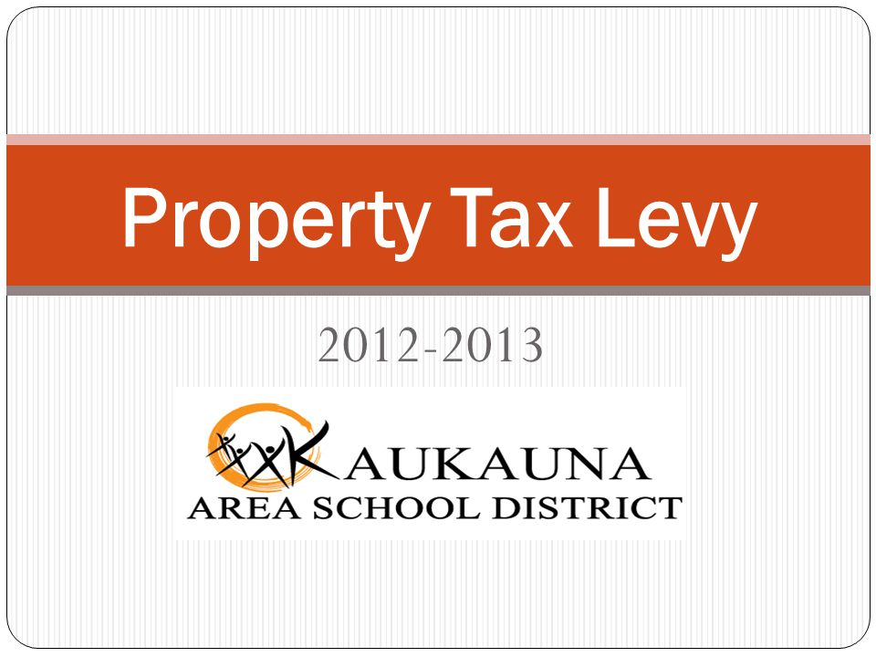 2012-2013 Property Tax Levy