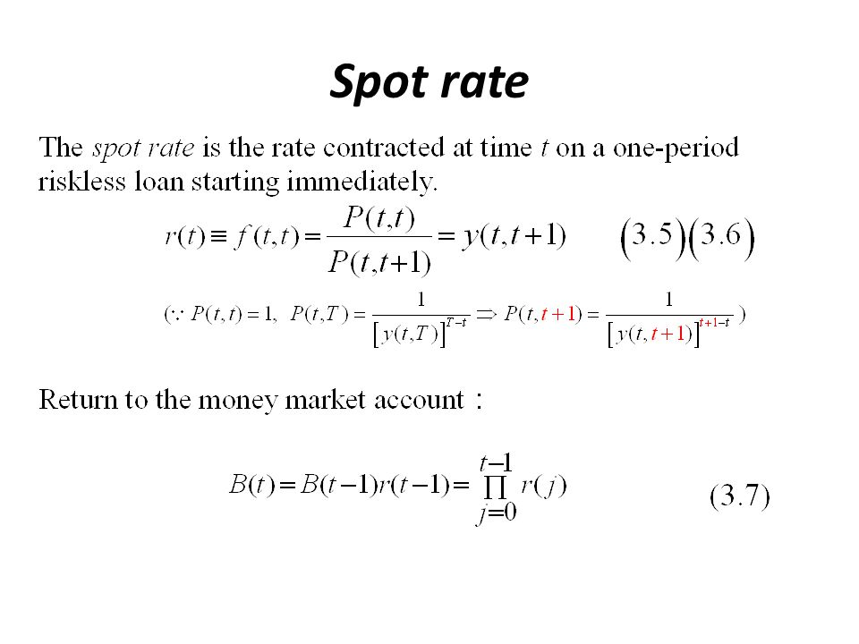 Spot rate