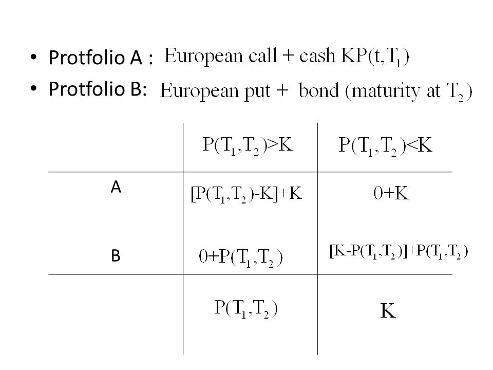 Protfolio A : Protfolio B: ABAB