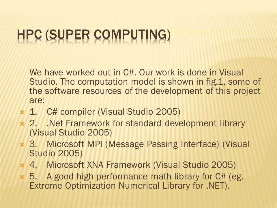 We have worked out in C#. Our work is done in Visual Studio.