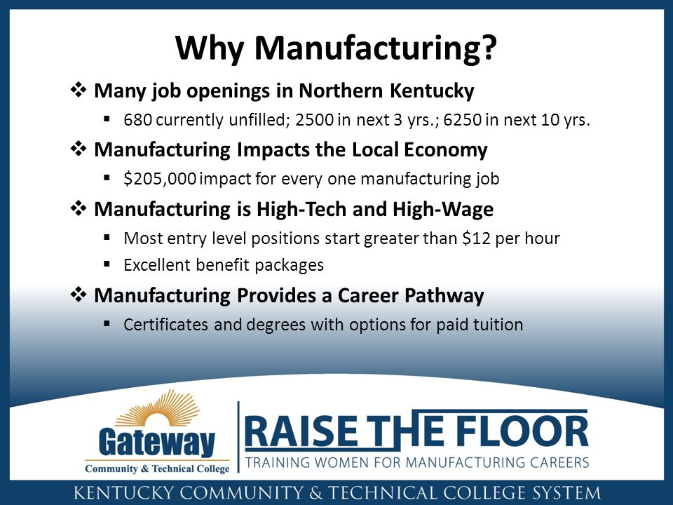 Why Manufacturing.