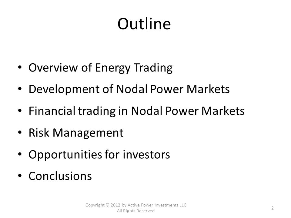 What is Energy Trading.