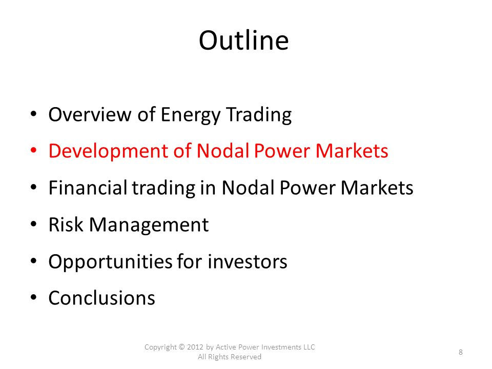 VaR: Portfolio Mapping West Portfolio East Portfolio Copyright © 2012 by Active Power Investments LLC All Rights Reserved 29