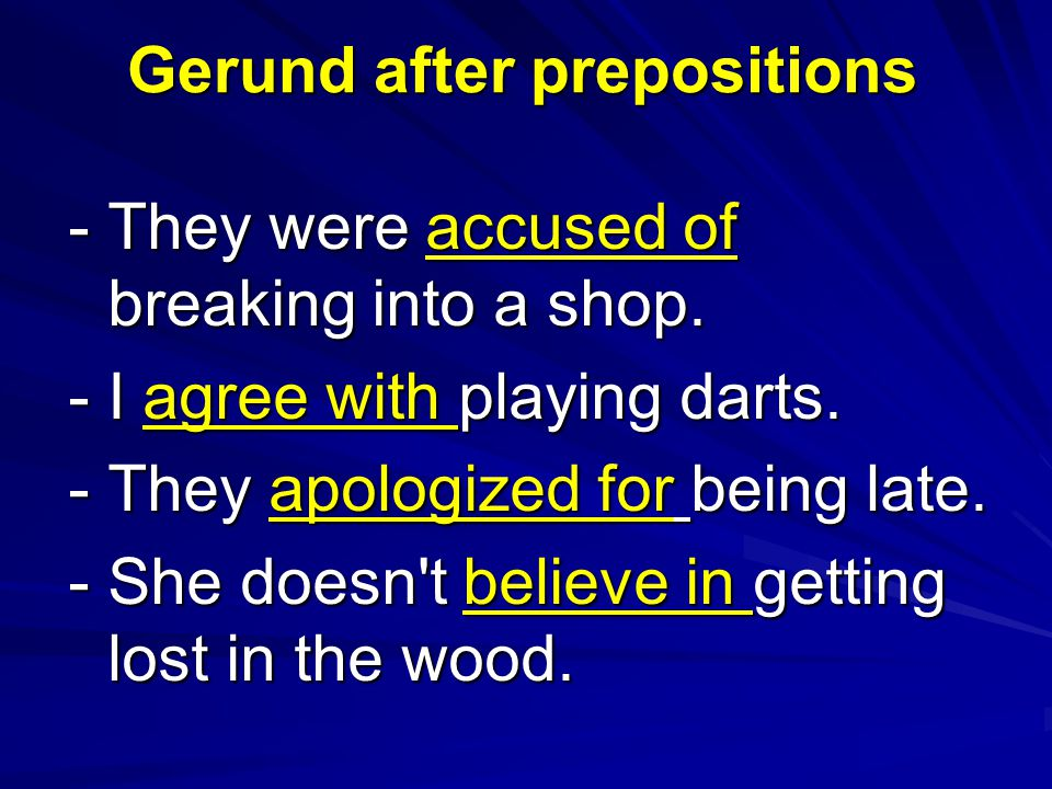 - They were accused of breaking into a shop. - I agree with playing darts.