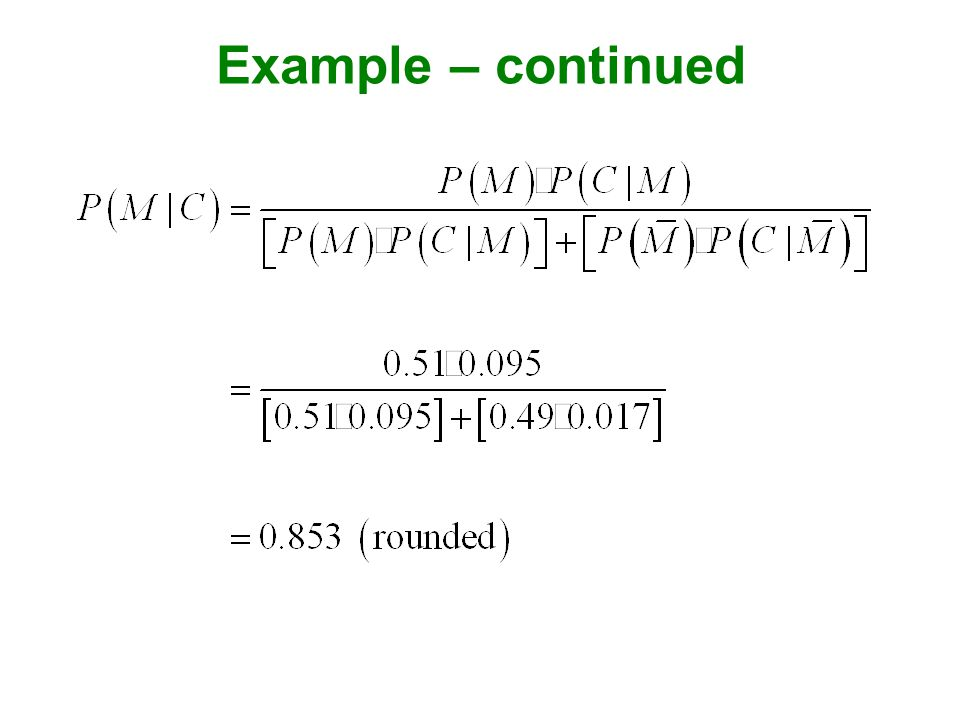 Example – continued
