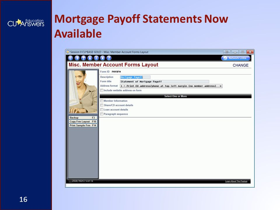 Mortgage Payoff Statements Now Available 16