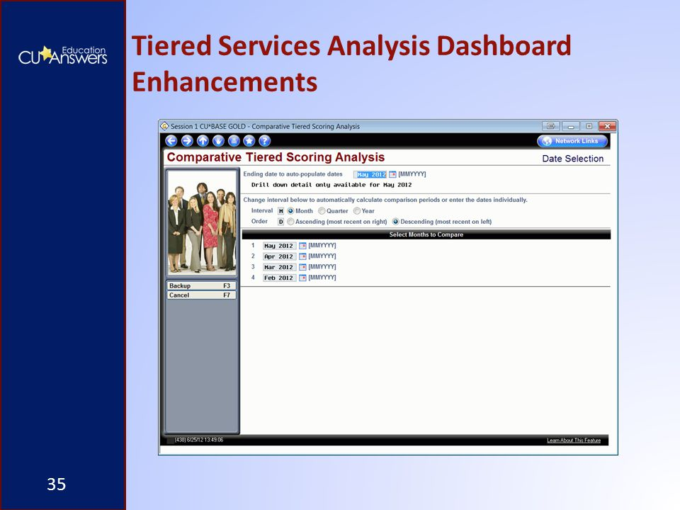 Tiered Services Analysis Dashboard Enhancements 35