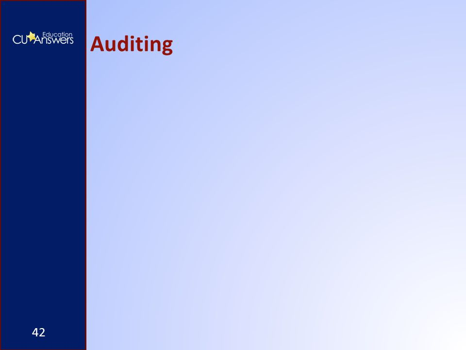 Auditing 42