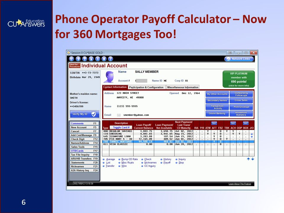 Phone Operator Payoff Calculator – Now for 360 Mortgages Too! 6