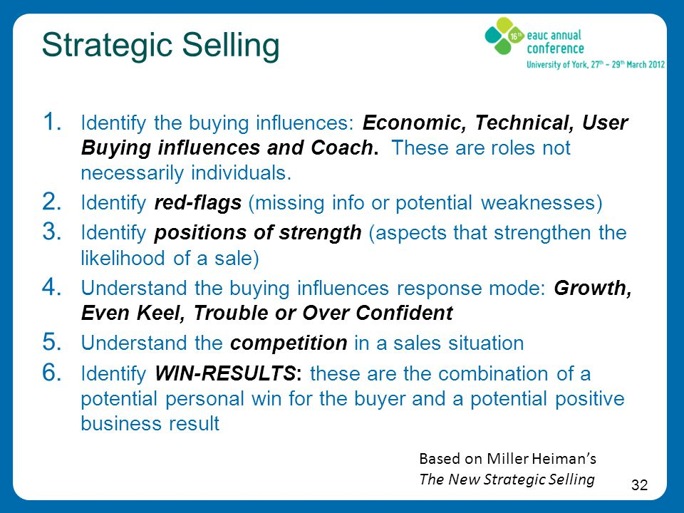 32 Strategic Selling 1.
