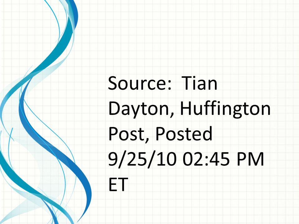Source: Tian Dayton, Huffington Post, Posted 9/25/10 02:45 PM ET