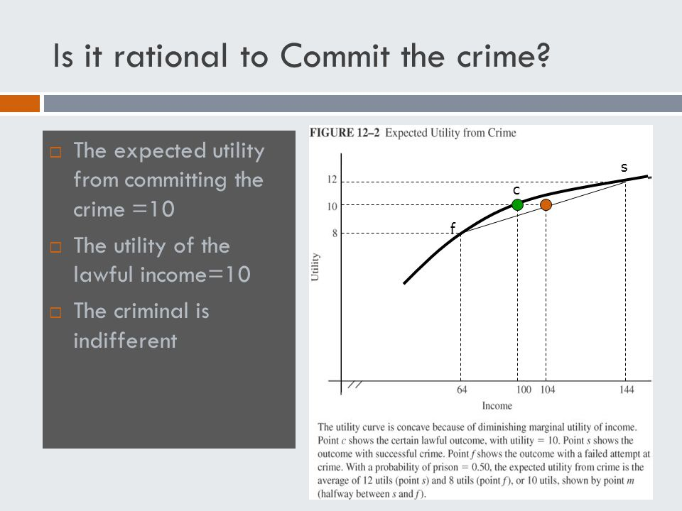 Is it rational to Commit the crime.