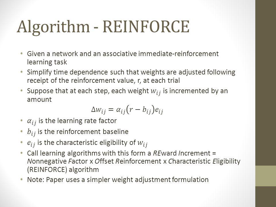 Algorithm - REINFORCE