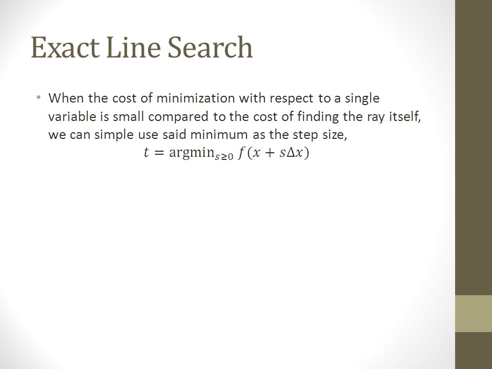 Exact Line Search